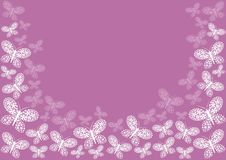 Pink butterfly border Royalty Free Stock Photos