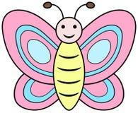 Pink butterfly clipart. Cartoon vector illustration. Cute pink butterfly clipart. Cartoon icon vector illustration royalty free illustration