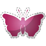 Pink butterfly feminist defense design Royalty Free Stock Image
