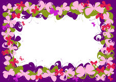 Pink butterfly frame. Illustration of pink butterfly frame Royalty Free Stock Images