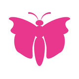Pink butterfly icon image. Illustration design Royalty Free Stock Photography