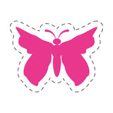 Pink butterfly icon image. Illustration design Stock Photo