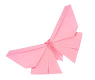 Pink butterfly of origami Stock Image