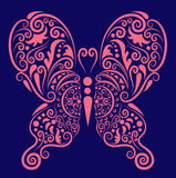 Pink butterfly ornament Stock Image