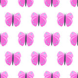 Pink butterfly seamless pattern. Stock Image