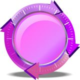 Pink button download Royalty Free Stock Images