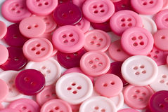 Pink buttons Stock Images
