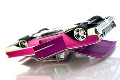 Pink cadillac. Panther, isolated car Royalty Free Stock Photo