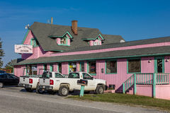 Pink Cadillac Diner, Natural Bridge, Virginia, October 26, 2016 Stock Images