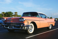 Pink Cadillac in Florida Royalty Free Stock Images