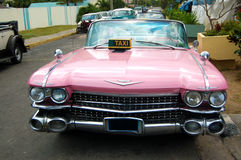 Pink Cadillac Taxi Car Royalty Free Stock Images