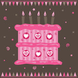 Pink cake Royalty Free Stock Photography