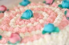 Pink cake Stock Image
