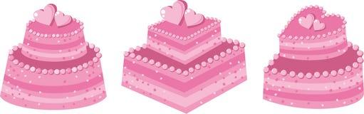 Pink cake Stock Photos