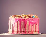 Pink cake Stock Photo
