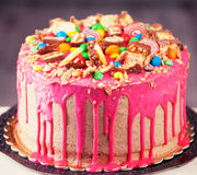 Pink cake Royalty Free Stock Images