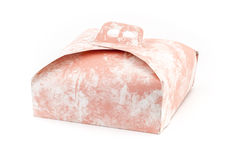 Pink cake box Royalty Free Stock Photos