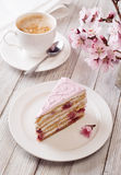 Pink cake Stock Images