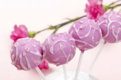 Pink cake pops Royalty Free Stock Image