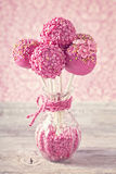Pink cake pops Royalty Free Stock Images