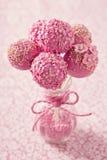 Pink cake pops stock photo