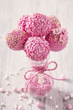 Pink cake pops Stock Images