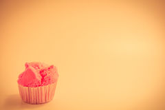 Pink cake which is appetizing Vintage style Stock Photo