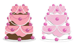Pink Cakes Stock Photography