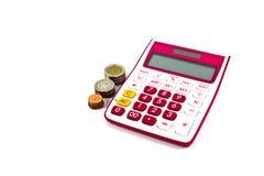 Pink calculator Stock Image