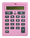 Pink calculator Royalty Free Stock Image