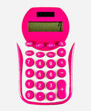 Pink calculator Stock Image