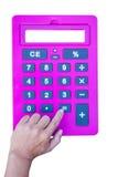 Pink calculator Stock Photos