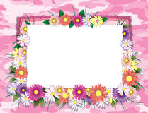Pink Camofulage Card. A decorated invitation card with an urban camouflage/garden theme Royalty Free Stock Photography