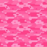 Pink camouflage. Girl pattern. Abstract seamless pattern. With rounded lines. Dynamic background. Flat style vector illustration
