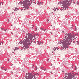 Pink camouflage texture. Vector seamless pattern in custom colors royalty free illustration