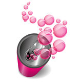 Pink can Royalty Free Stock Photography