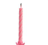 Pink candle Royalty Free Stock Images