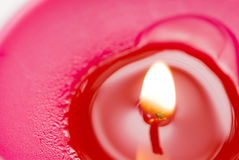 Pink candle Stock Photos