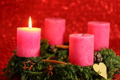 Pink candle Royalty Free Stock Photography