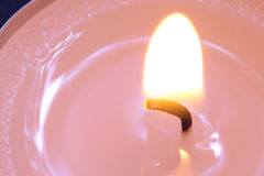 Pink candle close-up. Royalty Free Stock Image
