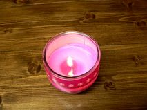 Pink candle Royalty Free Stock Photos