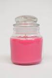 Pink candle jar Stock Photo
