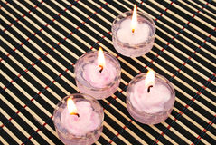 Pink candles stock photo