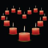 Pink candles Stock Images