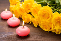Pink candles Stock Photography