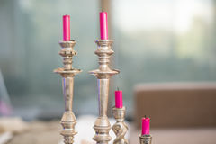 Pink Candles Royalty Free Stock Photo