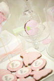 Pink candy bar. The holiday table decoration Royalty Free Stock Photography