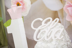 Pink candy bar. The holiday table decoration Royalty Free Stock Photo