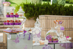 Pink candy bar Stock Images
