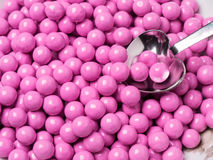 Pink Candy Covered Chocolates Stock Photos